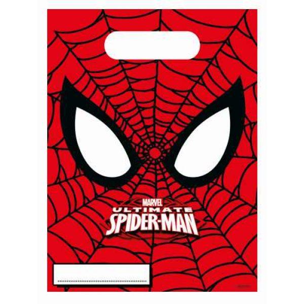 6 Ultimate Spiderman Partytüten-0