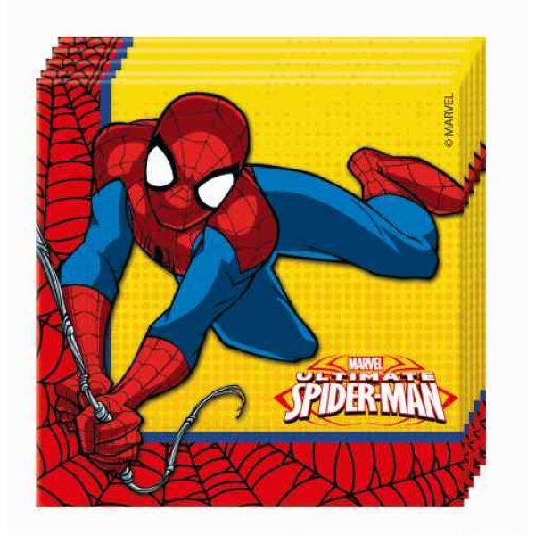 20 Ultimate Spiderman Servietten-0