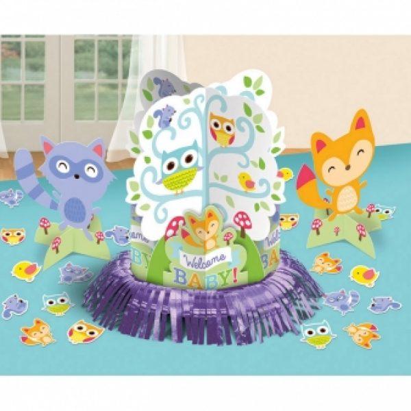 Welcome Baby Waldeule Party Tischdekoration Set-0