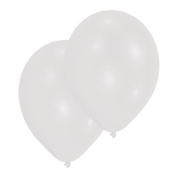 10 Weisse Latex Ballons 28 cm-0