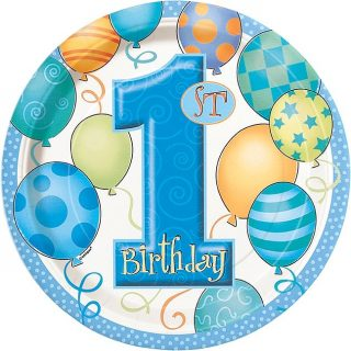 1. Geburtstag Blau