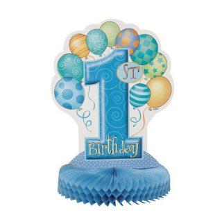1. Geburtstag Blau Aufsteller Tischdekoration-0