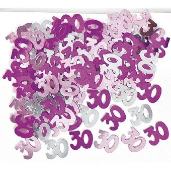 Konfetti 30 Geburtstag Pink Glitz -0