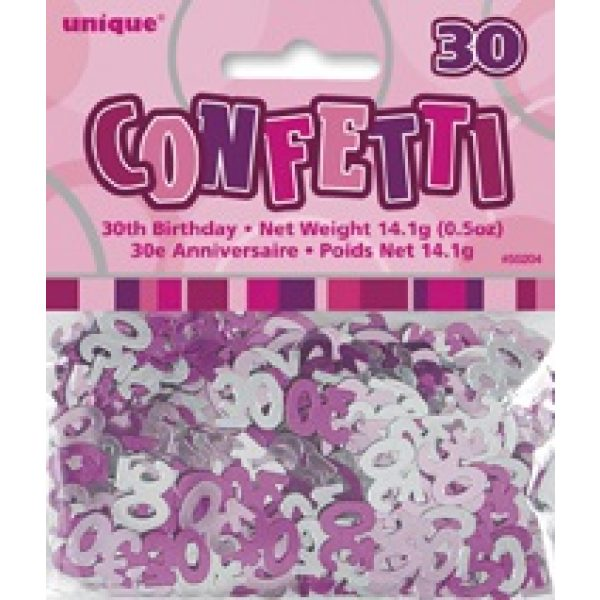 Konfetti 30 Geburtstag Pink Glitz -2445