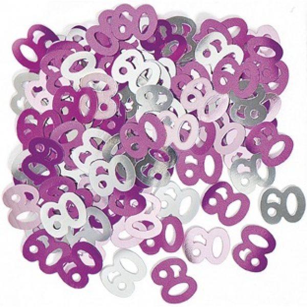 Konfetti 60 Geburtstag Pink Glitz -0