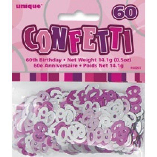 Konfetti 60 Geburtstag Pink Glitz -2448