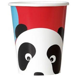 8 Panda Birthday Party Pappbecher-0