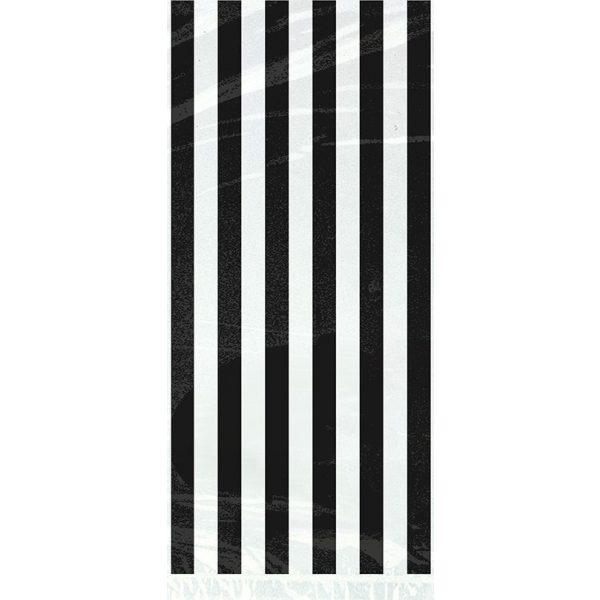 20 Cellophan Taschen Schwarz Streifen-2846