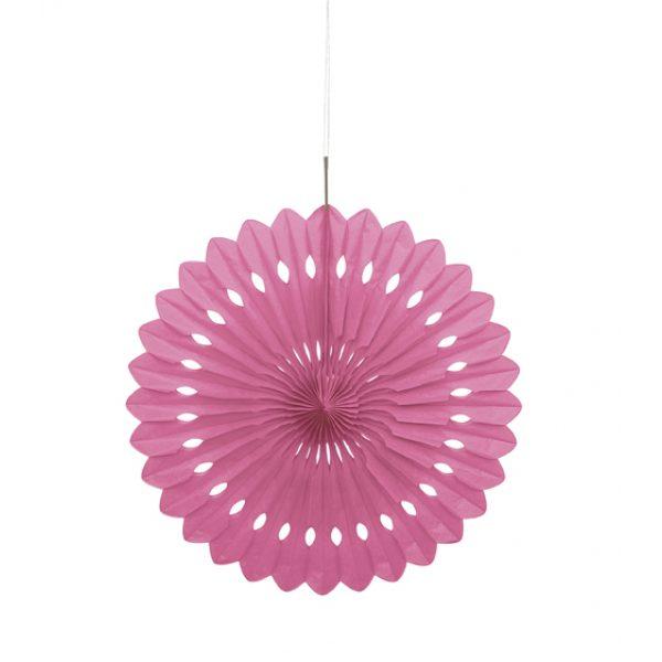 Deko Party Fächer Pink 40 cm-0