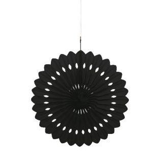 Deko Party Fächer Schwarz 40 cm-0