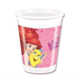 8 Plastikbecher Disney Prinzessinnen-0