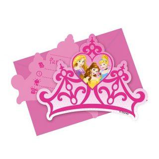 6 Disney Prinzessin Einladungen-0