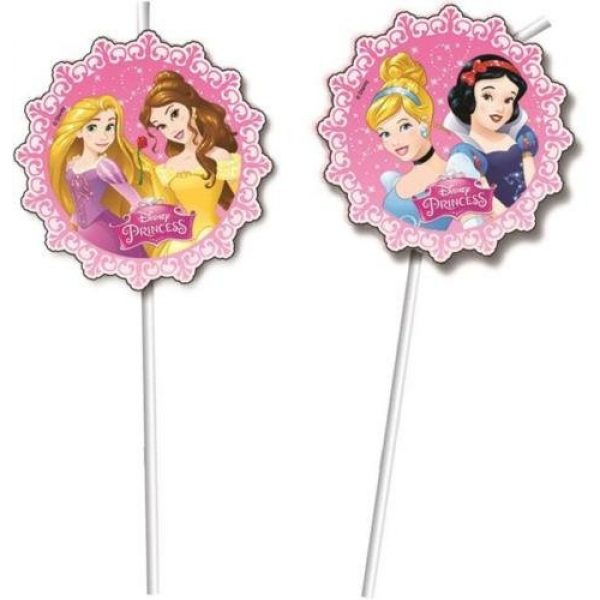 6 Disney Prinzessin Strohhalme-0