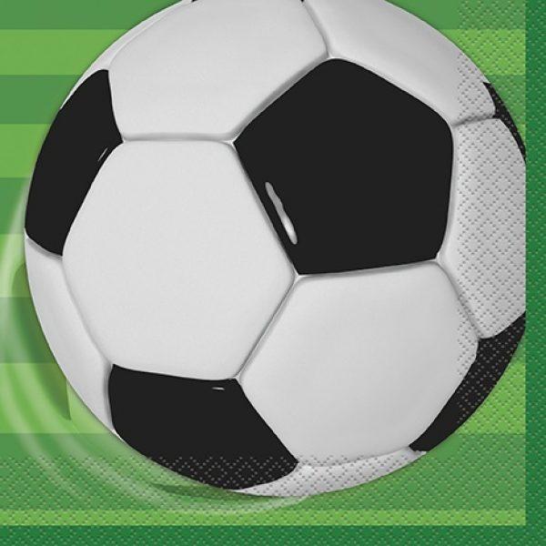 16 Fussball Party Servietten-0
