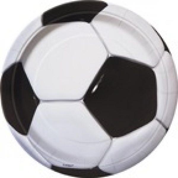 8 Pappteller Fussball Geburtstag Party -0