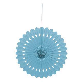 Deko Party Fächer Hellblau 40 cm-0