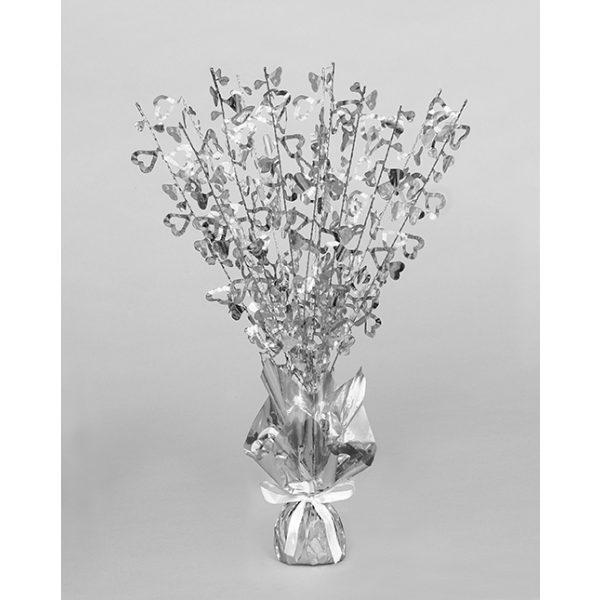 Silber Herzen Tischdekoration -2676