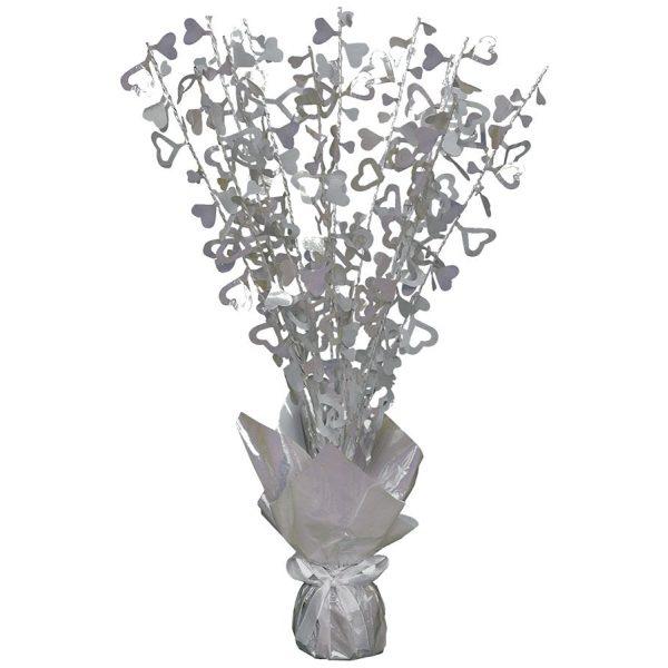 Silber Herzen Tischdekoration -0