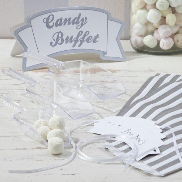 Vintage Silber Candy Buffet Bar Kit-0