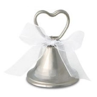 12 Platzkartenhalter Silber Glocken-0
