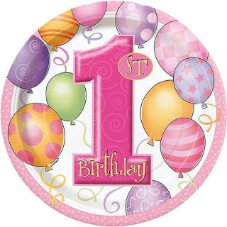 1. Geburtstag Pink