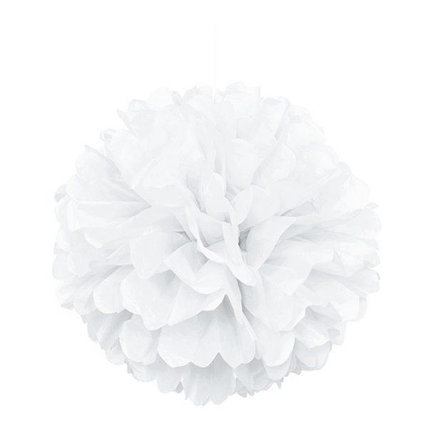 Pom-Pom Puff Weiss 40 cm-0