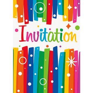 8 Rainbow Geburtstag Party Einladungen-0