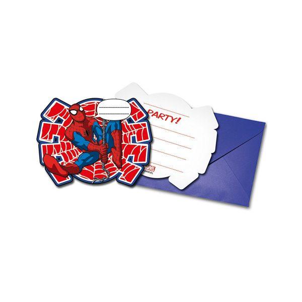 6 Ultimate Spiderman Einladungen-0