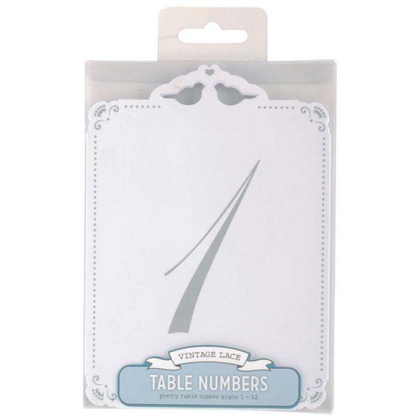Tischnummern 1-12 Vintage Silber -2547