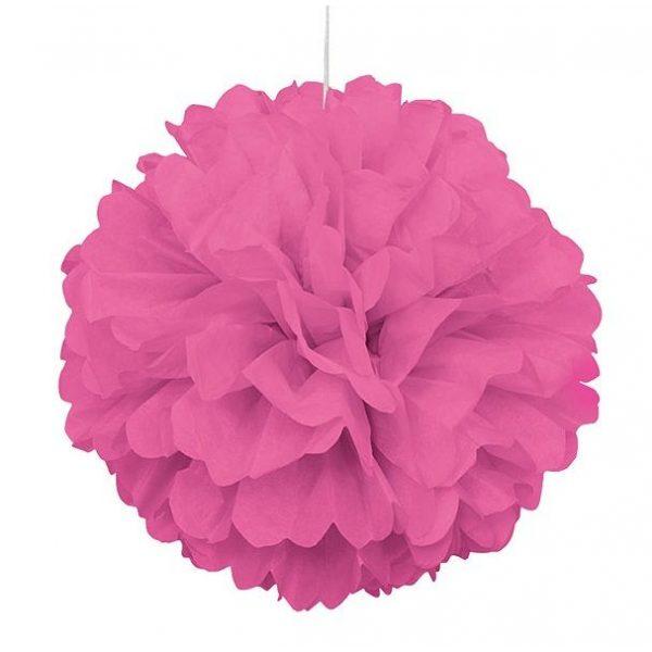 Pom-Pom Puff Pink 40 cm-0