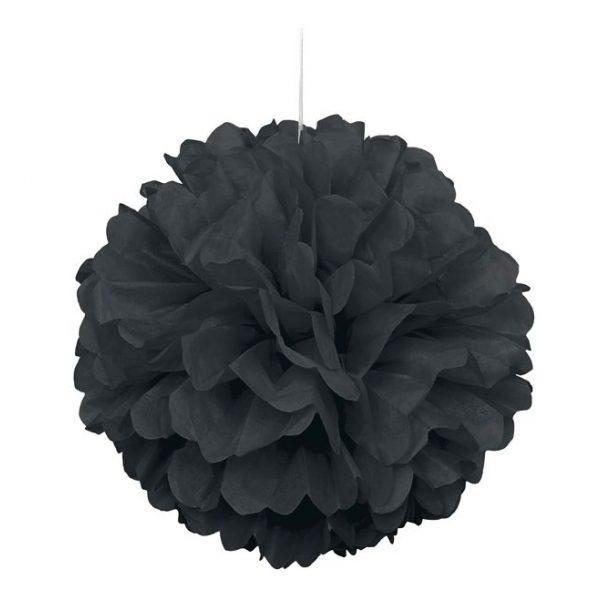 Pom-Pom Puff Schwarz 40 cm-0
