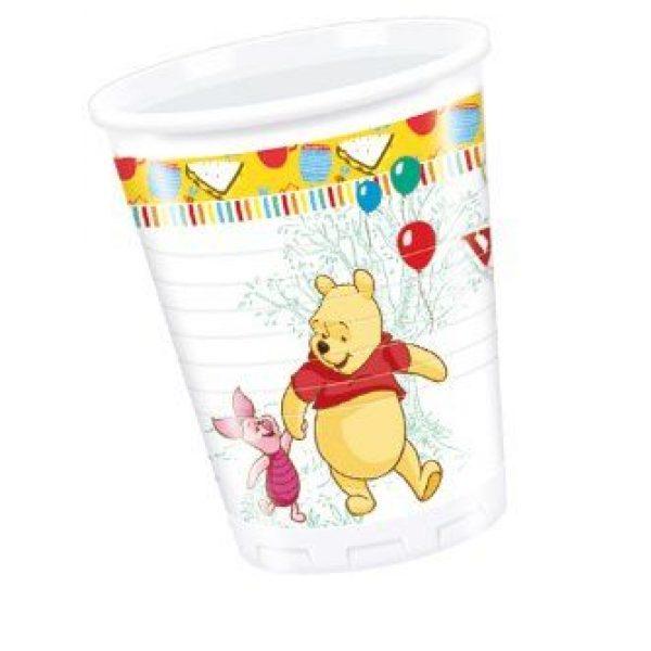 8 Plastikbecher Winnie Puuh -0