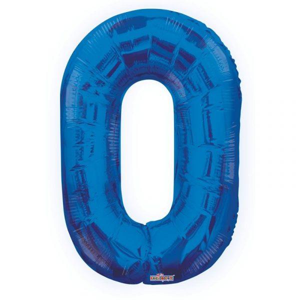Zahlenballon 0 Blau 86 cm -0