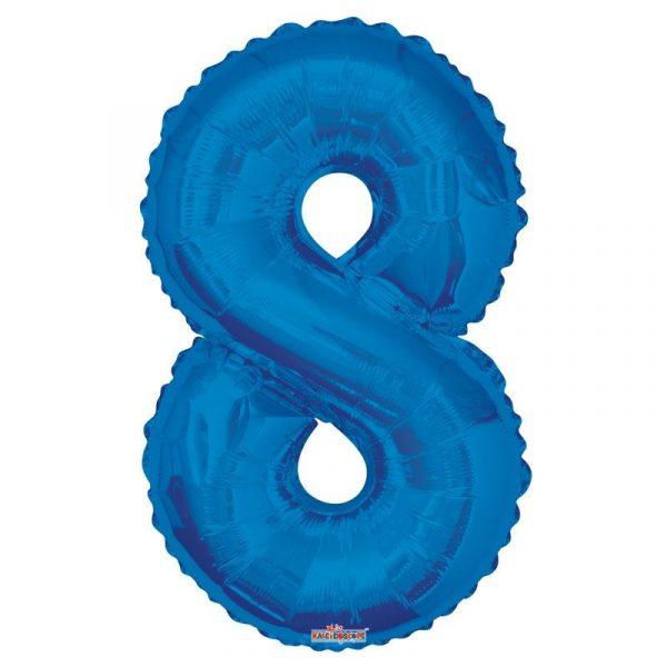 Zahlenballon 8 Blau 86 cm-0