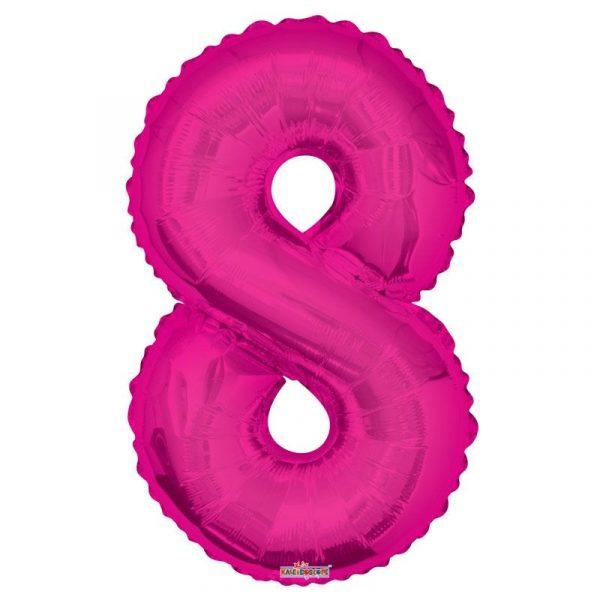 Zahlenballon 8 Pink 86 cm-0
