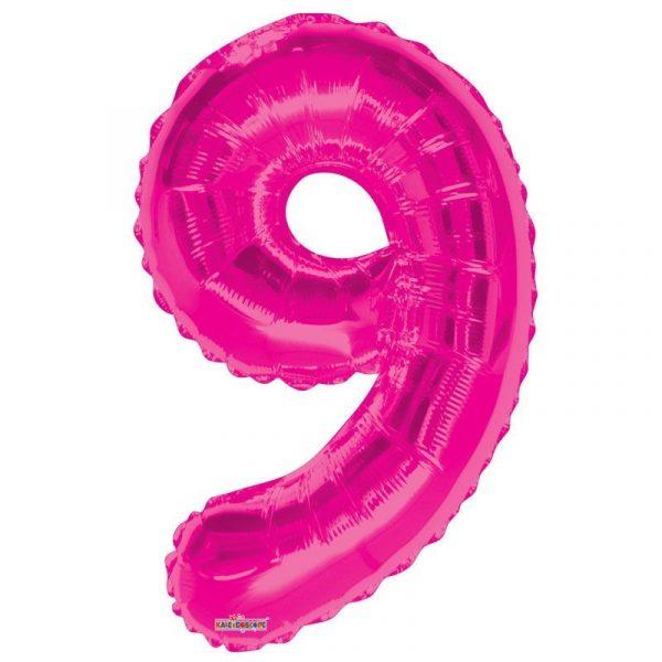 Zahlenballon 9 Pink 86 cm-0