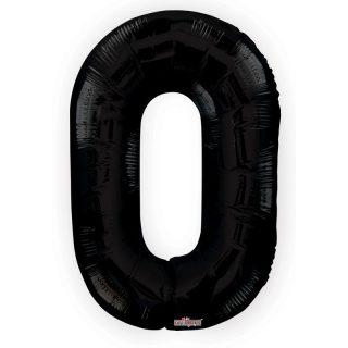 Zahlenballon 0 Schwarz 86 cm-0