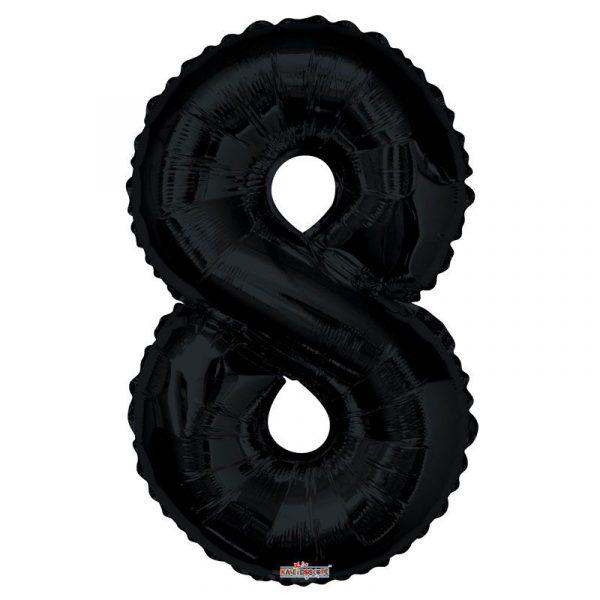 Zahlenballon 8 Schwarz 86 cm-0