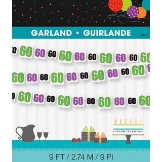 60. Geburtstag Girlande -0