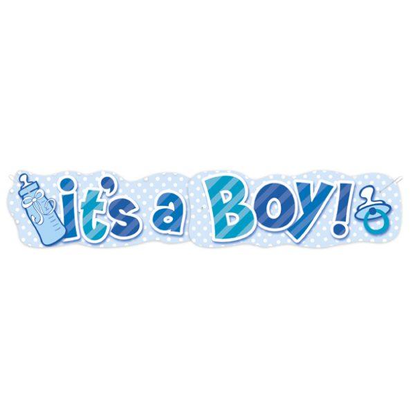 """""""It's a Boy"""" XXL Banner Baby Junge Blau-3223"""
