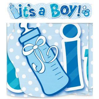"""""""It's a Boy"""" XXL Banner Baby Junge Blau-0"""