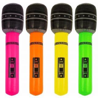 XL Aufblasbare Mikrophon Neon-0
