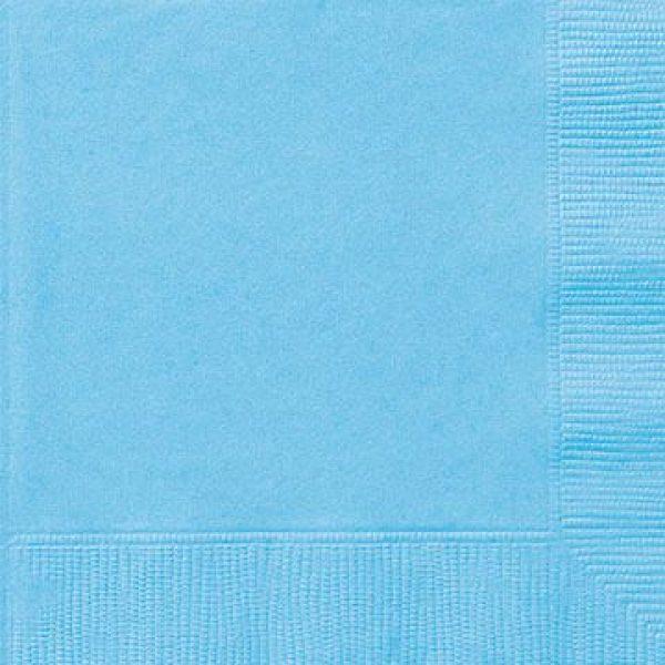 20 Servietten Hellblau 33 cm-0