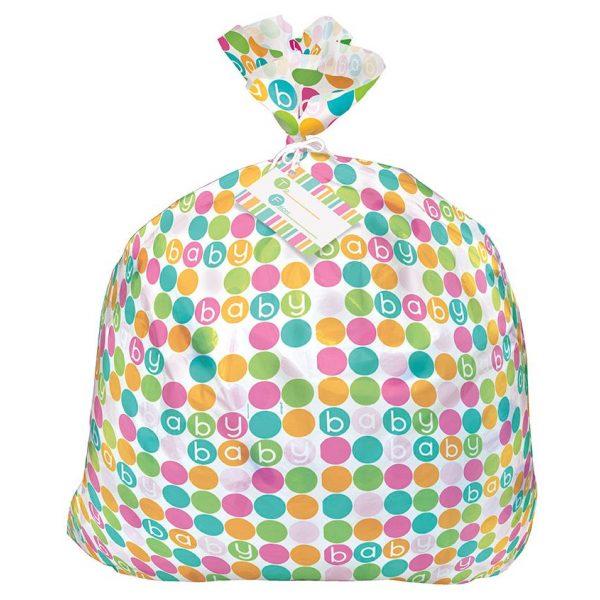 XL Geschenk Beuteltasche Pastel Dots Baby -3282