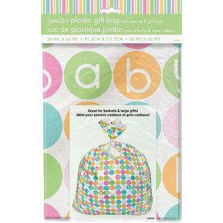 XL Geschenk Beuteltasche Pastel Dots Baby -0