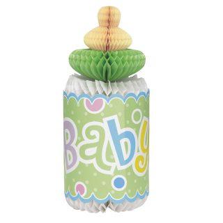 Babyflasche Wabendeko Aufsteller Tischdekoration Pastel Dots-0