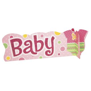 """""""Baby"""" Aufsteller Tischdekoration Mädchen Rosa-0"""