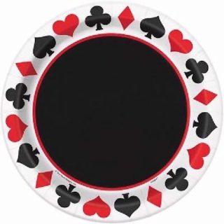 8 Pappteller Casino 007 Poker Party-0