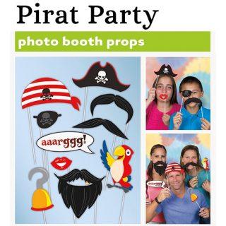 10 tlg. Pirat Photo Booth Foto Requisite Geburtstag Party-0