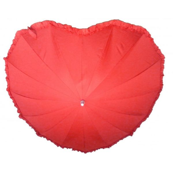 Herz Regenschirm Rot-3286